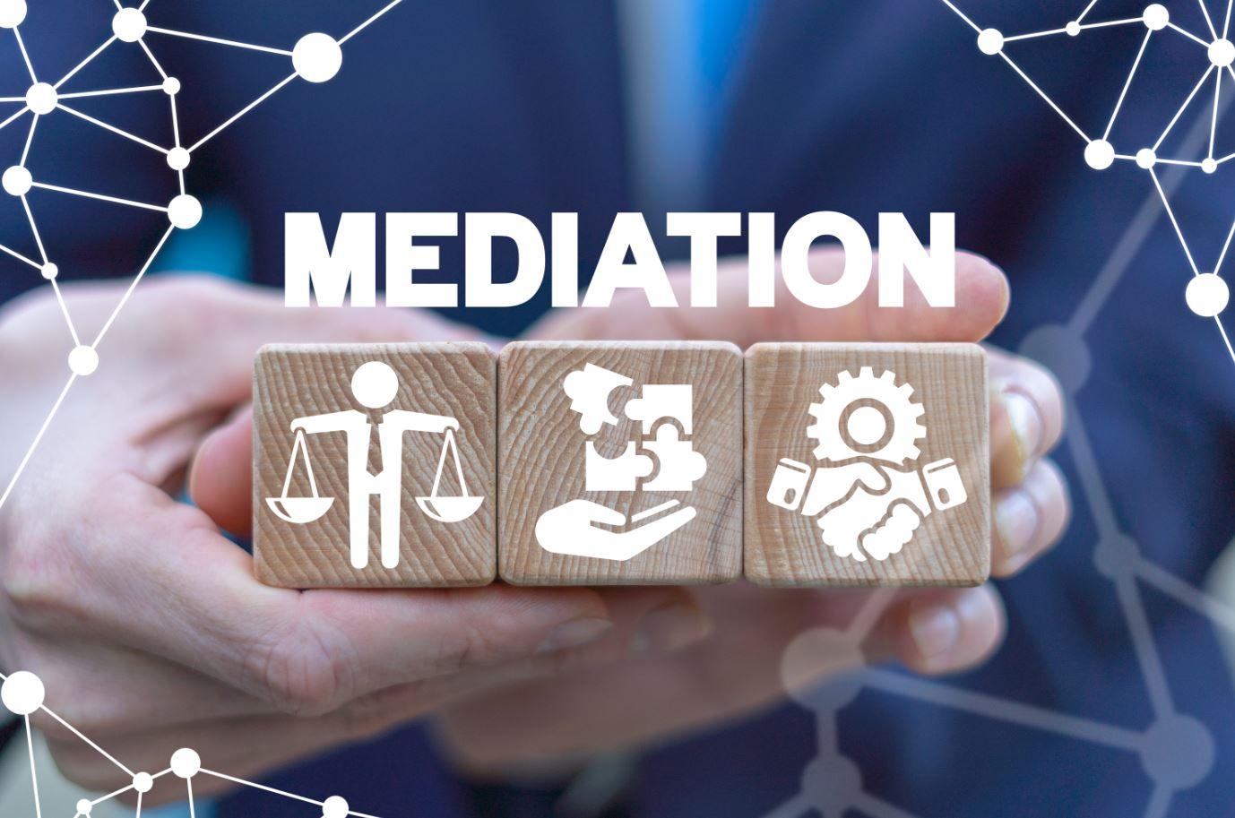 Image of mediation.